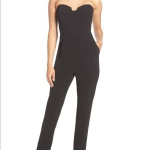 NWT Adelyn Rae Strapless tailored jumpsuit